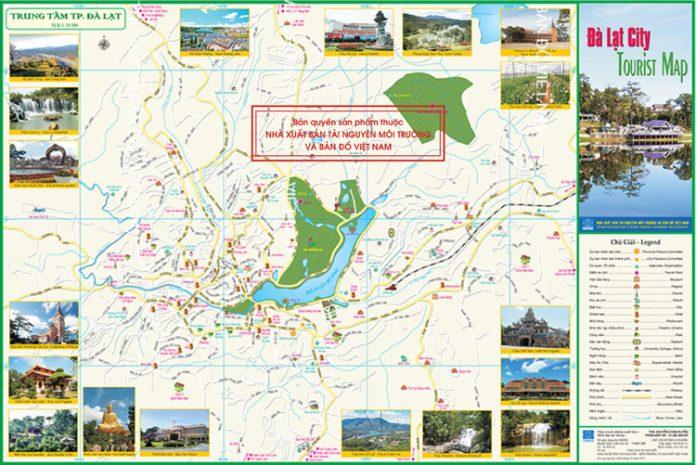 bản đồ du lịch đà lạt mới nhất