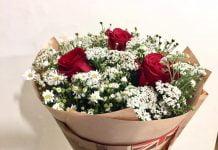 bó hoa valentine tặng nàng