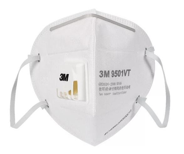 khẩu trang 3m 9501VT phòng chống bụi và virus corona vũ hán