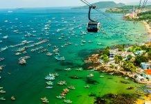 đảo phú quốc nhìn bao quát từ cáp treo
