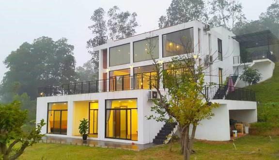 Golf View Villa homestay Vĩnh  Phúc có diện tích rộng với thiết kế hiện đại