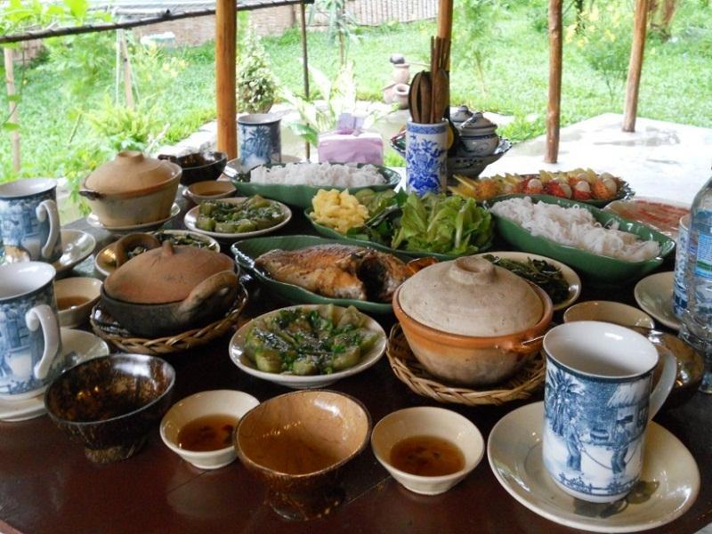 Kim Lan homestay cung cấp nhiều món ăn dân giã